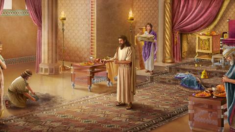 Il pentimento del re di Ninive guadagna la lode di Jahvè Dio