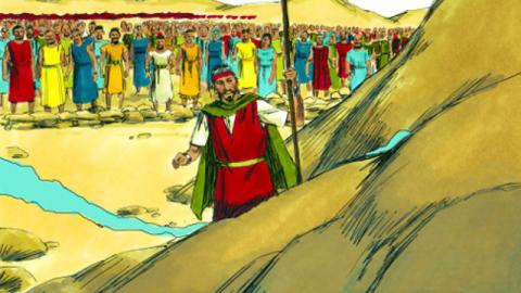Mosè colpì la roccia e separò le acque