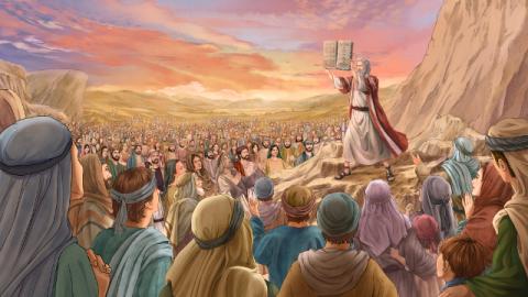 Storie della Bibbia: decretare i dieci comandamenti