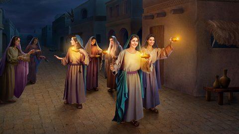 Le vergini sagge accolgono il ritorno del Signore.