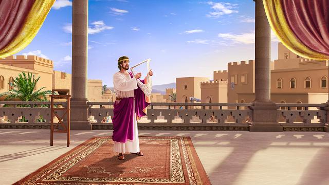 Davide canta le lodi del Signore