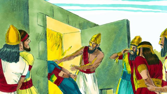 tre santi furono gettati nella fornace ardente