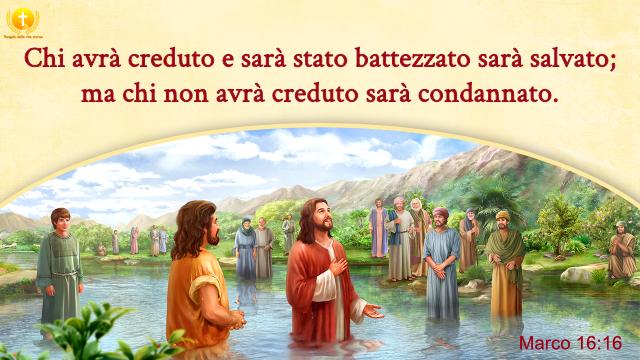 Chi avrà creduto e sarà stato battezzato sarà salvato; ma chi non avrà creduto sarà condannato.