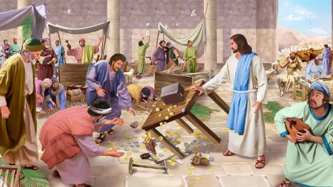 Storie della Bibbia: Gesù scaccia i mercanti dal tempio