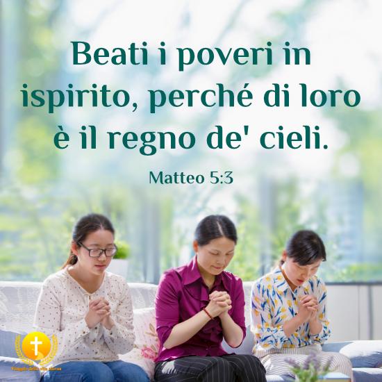 Beati i poveri in ispirito