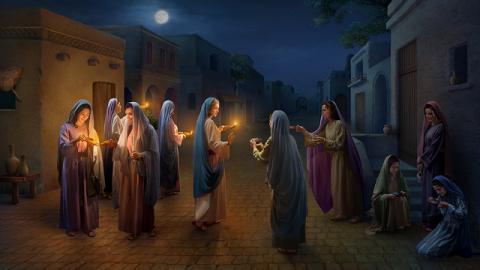 le vergini sagge accolgono il Signore