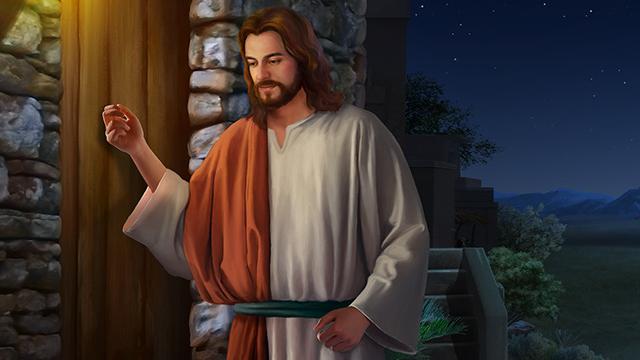 Gesù bussa alla porta