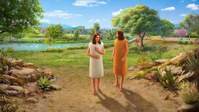 Adamo ed eva sono cacciati dal Giardino dell'Eden