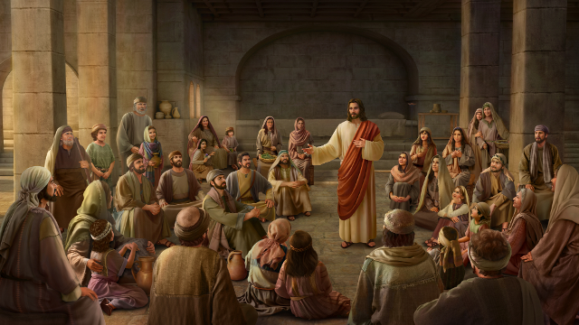 Gesù predica tra la gente