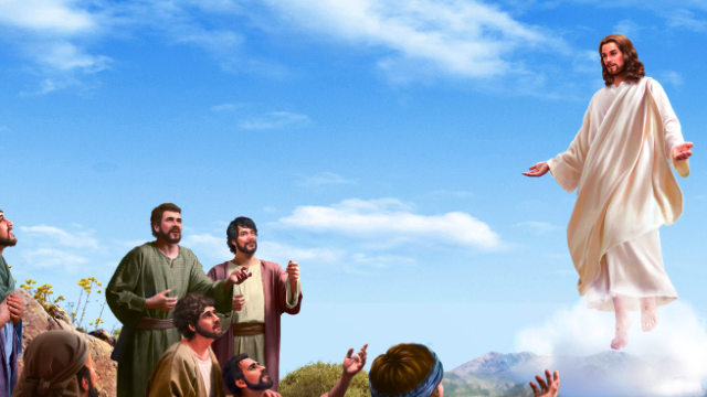 Gesù sale nel cielo