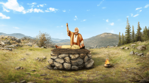 Abramo che offre Isacco