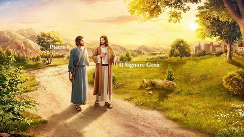 Gesù e Pietro stanno parlando.