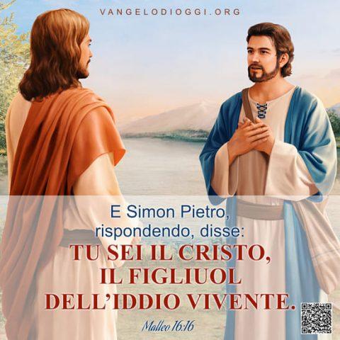 Frasi della bibbia: Matteo 16 Il Signore Gesù e Pietro
