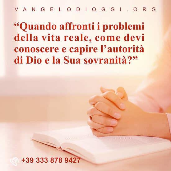 conosci autorita di Dio nella vita